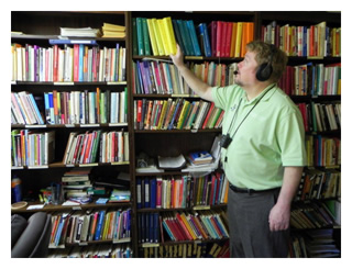 Russell Potter at MACIC's library